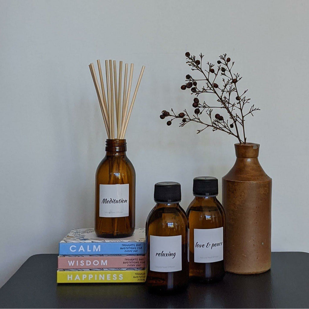 Essential Oil Reed Diffusers-heart deco