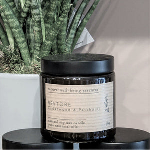 Restore Essential Oil Blend Candle - heart deco