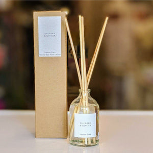 Rhubarb and Ginger Reed Diffuser-heart deco