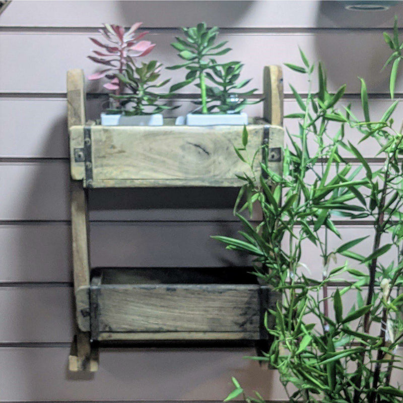 Bloomingville Caspar Shelf, Nature, Recycled wood - heart deco