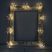 Starburst Silver led Fairy Lights- heart deco