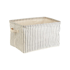 Ticking Stripe Storage Baskets - set of 2 - heart deco