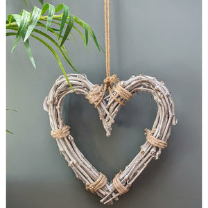 Natural Willow Hanging Heart-heart deco