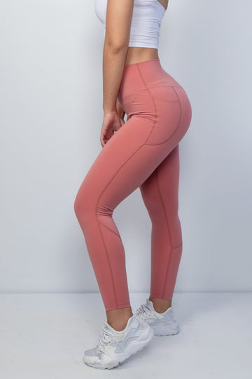 Genesis Leggings - Dusty Rose