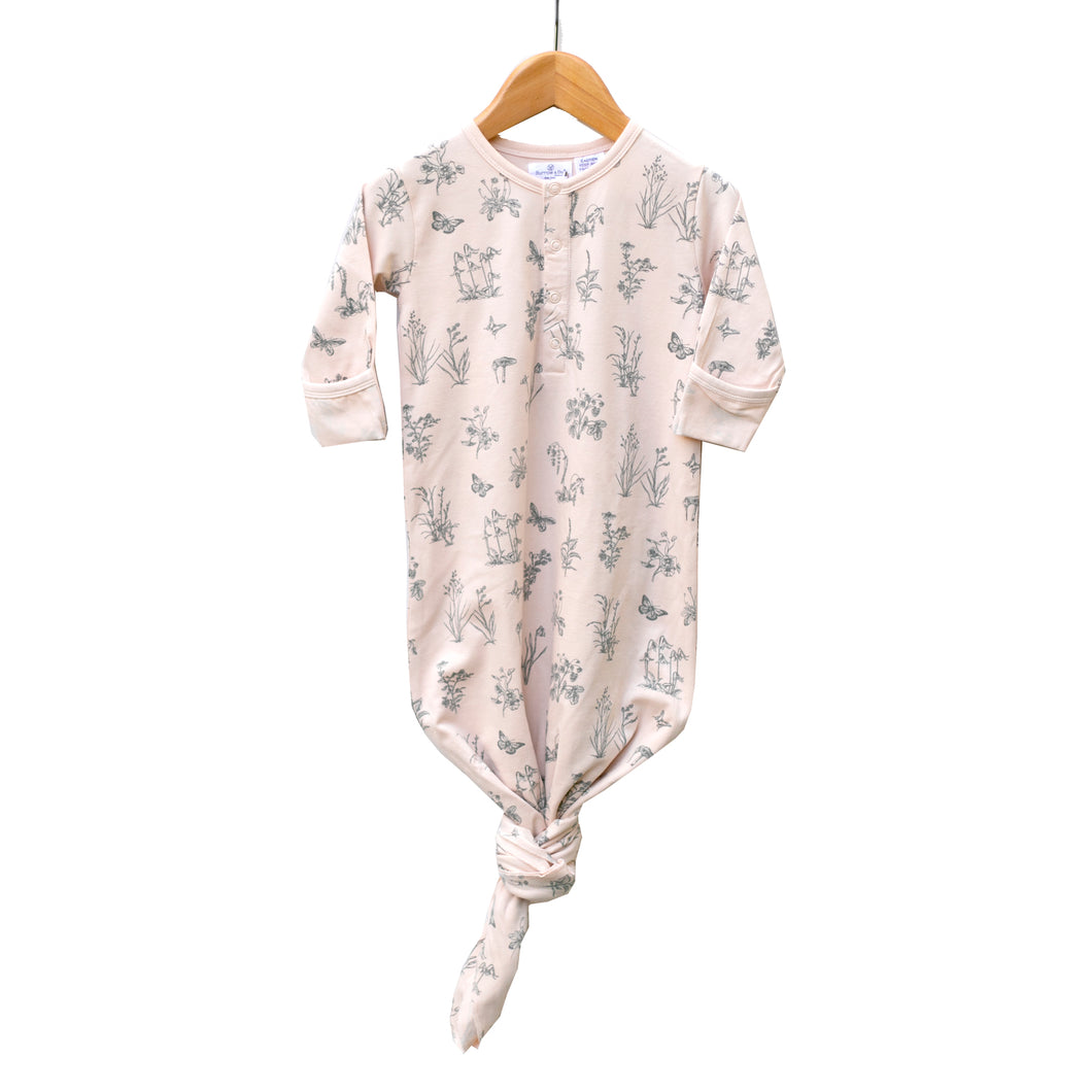 Baby Sleep Gown - Blush Meadow