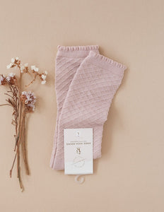 Picnic Knee-High Socks - Rose Blush