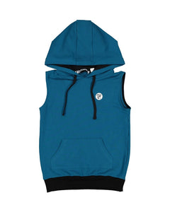 TRIBE S/S HOOD IN TEAL