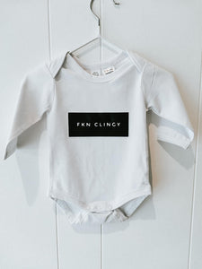 Fkn Clingy white bodysuit