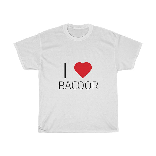 I ❤️ BACOOR | Unisex Heavy Cotton Tee