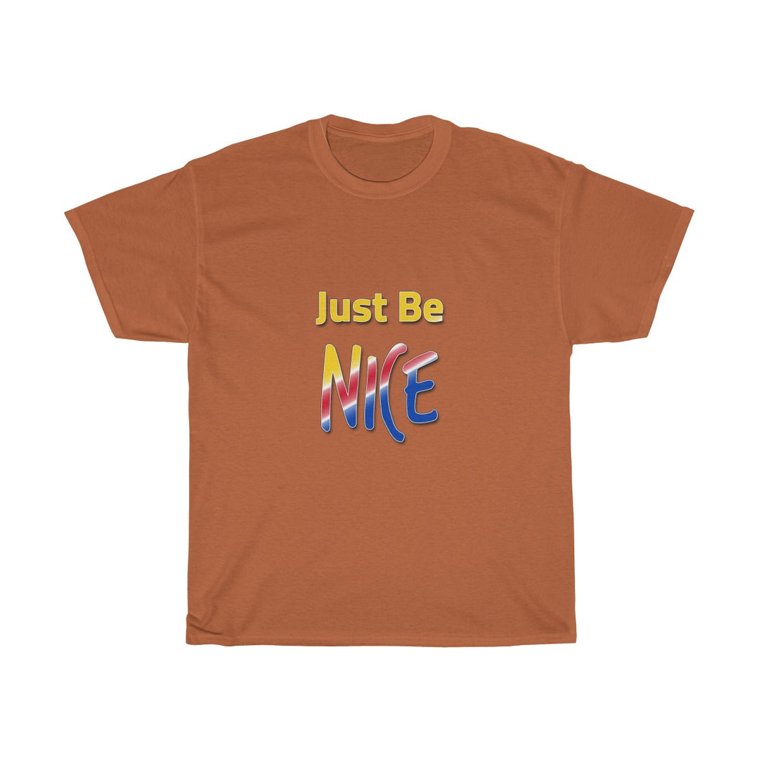 Just Be Nice | Unisex Heavy Cotton Tee