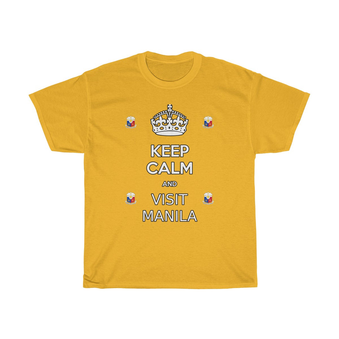 KEEP CALM AND VISIT MANILA | Unisex Heavy Cotton Tee