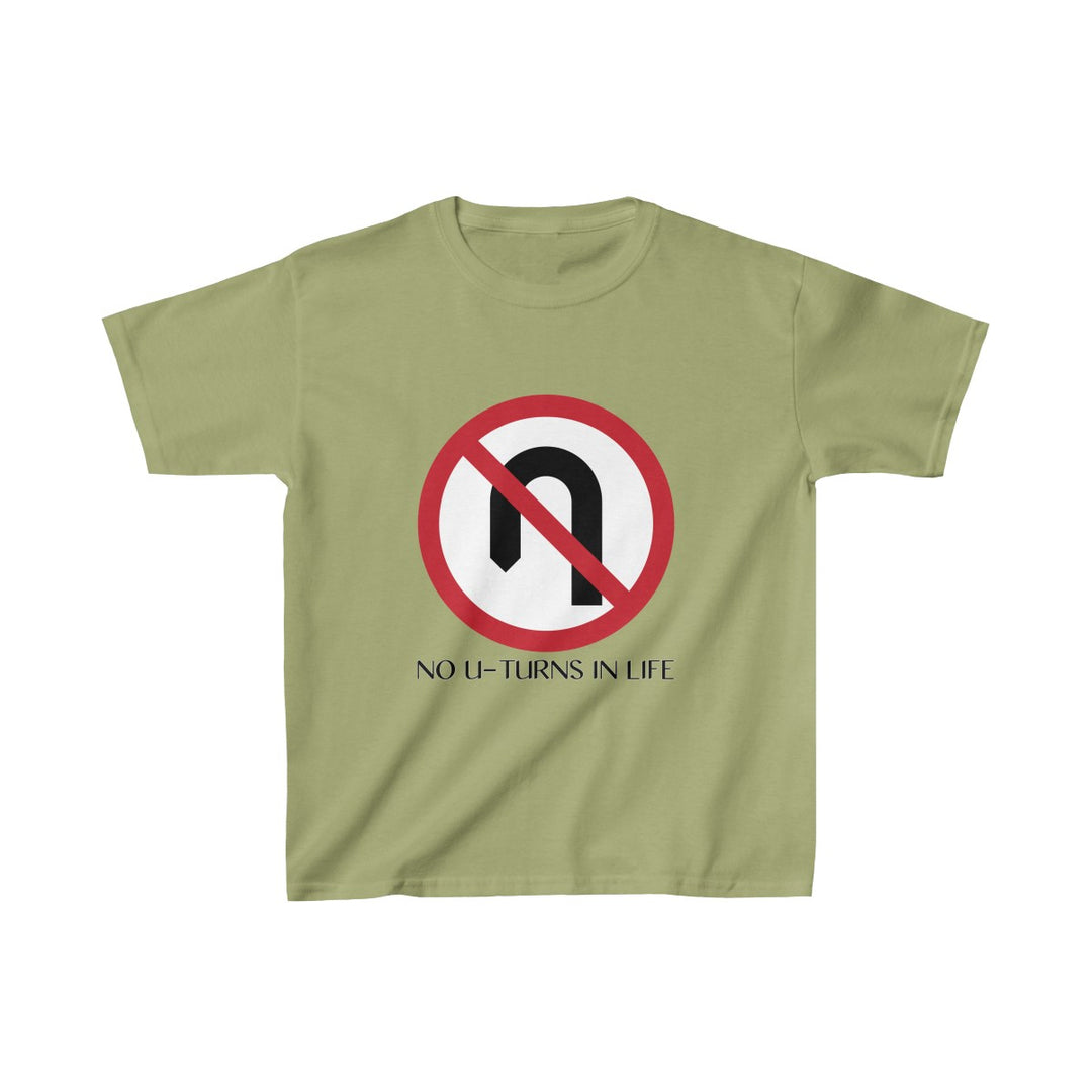 No U-Turns in Life | Youth Heavy Cotton Tee