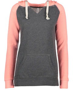 chalk fleece colorblock pullover hood
