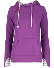 Load image into Gallery viewer, striped double hood pullover
