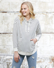 Load image into Gallery viewer, lightweight pullover hood - thick stripe