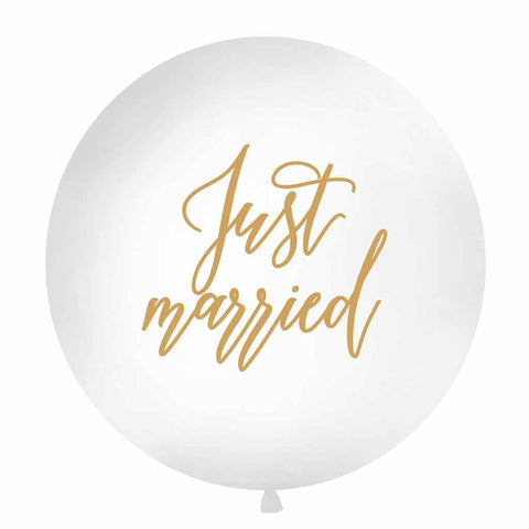 "Ballon ""Just Married"" Large"