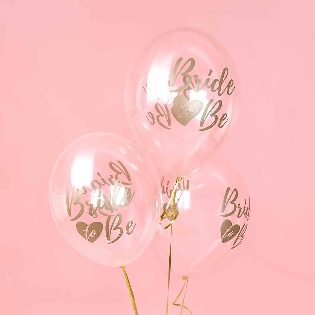 "Ballon Guld ""Bride to Be"" 6 pak"