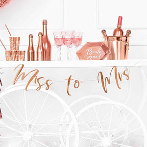 "Banner ""Miss to Mrs"""