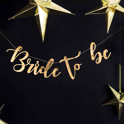 "Banner Guld ""Bride to Be"""