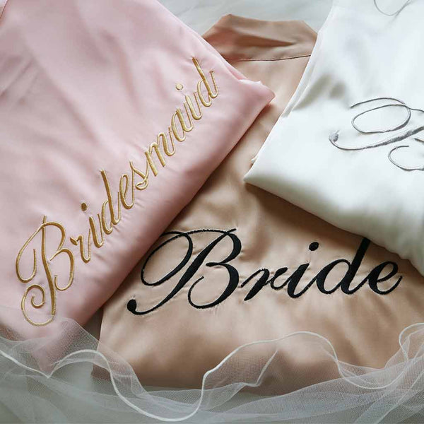 Morgenkåbe Bridesmaid - Rosa