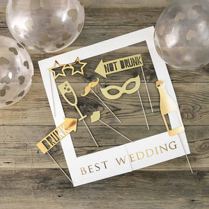 "Selfie kit ""Best Wedding"""