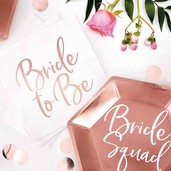 "Servietter hvide ""Bride to Be"""