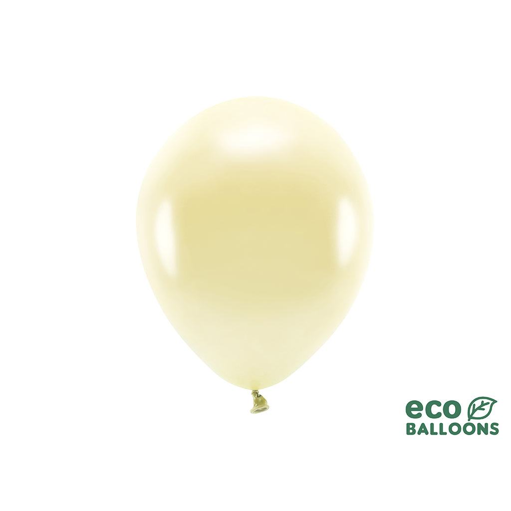 Eco Ballon lys metallic Gul 26cm