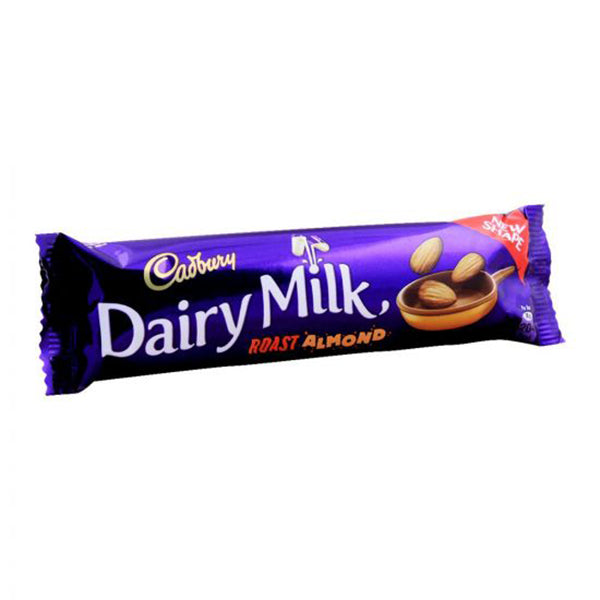 Cadbury Dairy Milk Roasted Almond Chocolate, 38g, (Local)