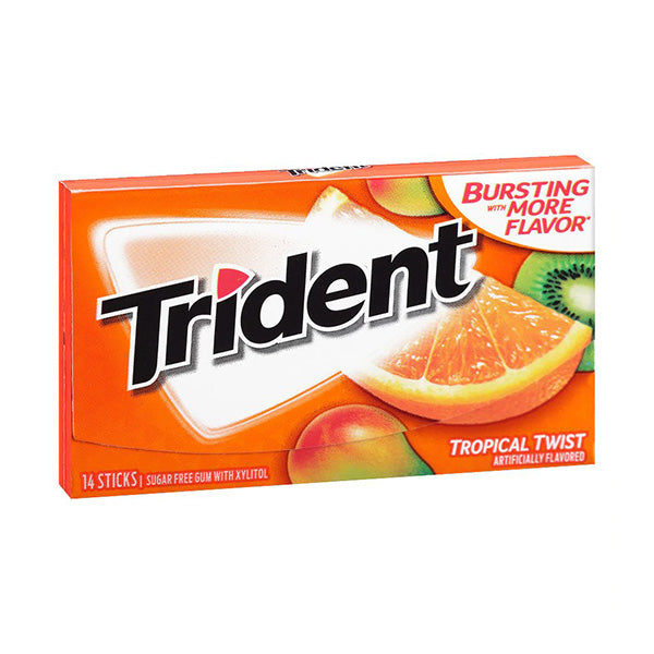 TRIDENT TROPICAL 14 STICKS SUGER FREE