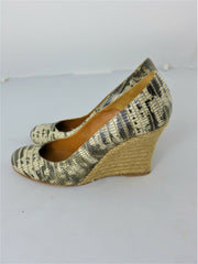 Lanvin black and cream leather wedges size UK2/US4
