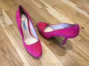 Prada Pink Suede Leather Pumps Size UK7/US9