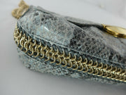 Stella McCartney blue snake print small handbag
