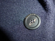 Peserico navy alpaca & fleece wool coat size UK12/US8