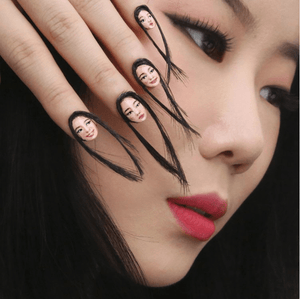Portrait Nails Are Just The Hallowe'en Trend We Need to Freak Everyone Out