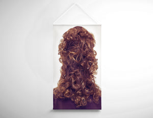 Salon Banner - Woman with Updo Hairstyle with Curls at the Back
