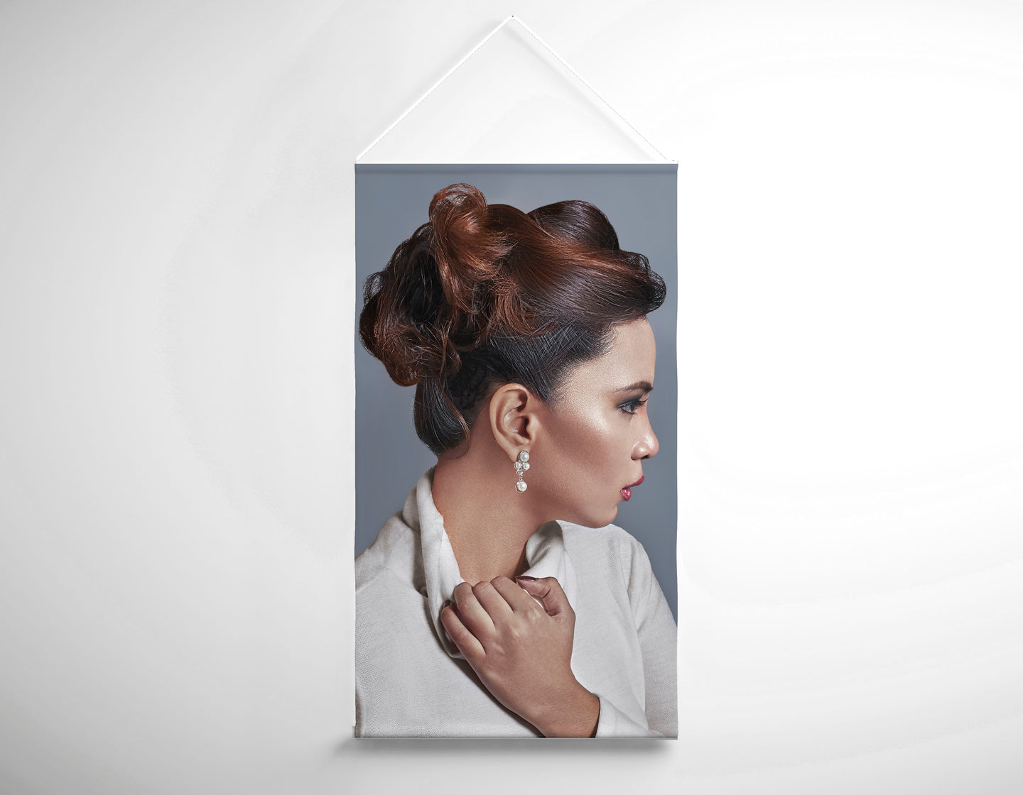 Salon Banner - Woman with Updo in Large Curls
