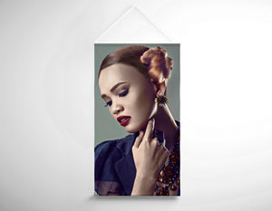 Salon Banner - Woman with Side Bun Hairstyle