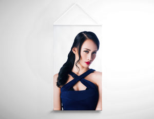 Salon Banner - Woman with Long Hair in Wavy Hair
