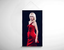 Load image into Gallery viewer, Salon Banner - Woman with Bouffant Hairstyle in Red Dress
