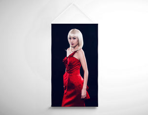 Salon Banner - Woman with Bouffant Hairstyle in Red Dress