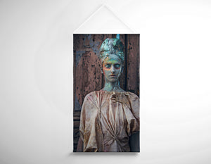 Salon Banner - Woman in Bronze Statue Look with Patina Body Paint