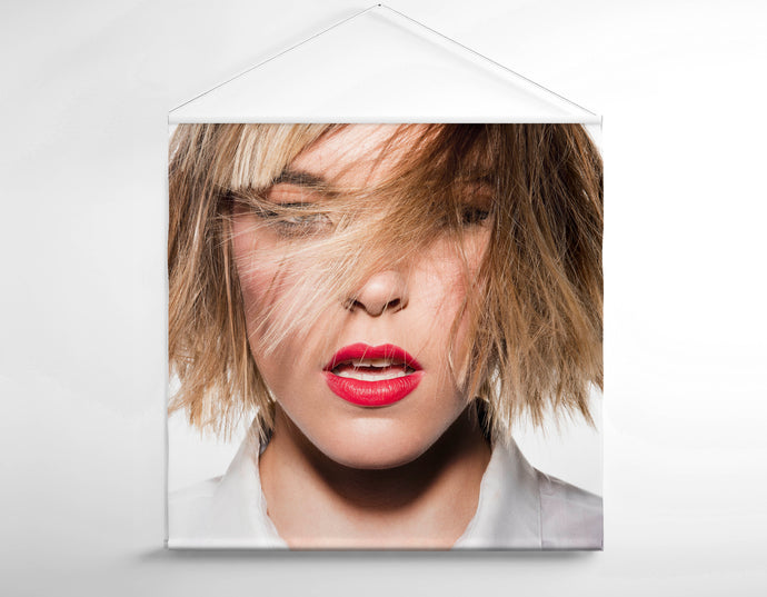 Salon Banner - Woman in Blonde Lob with Fringe
