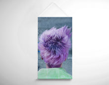 Load image into Gallery viewer, Salon Banner - Woman in Purple Pixie Cut