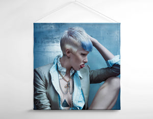Salon Owner - Woman with Pixie Cut and Blue Highlights