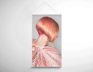 Salon Banner - Woman with Pink Colored Bob Hairstyle