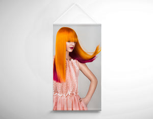 Salon Banner - Woman with Long Orange Colored Hair