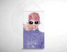 Load image into Gallery viewer, Salon Banner - Woman in Pink Hair Colored Pixie Cut