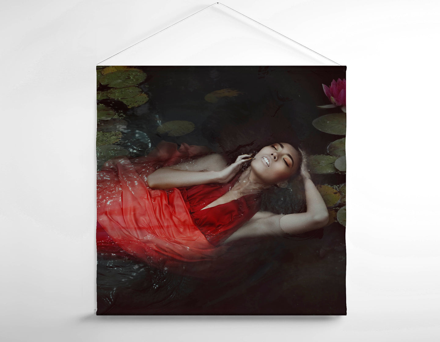 Salon Banner - Woman Laying on Her Back in Water