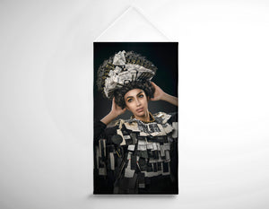 Salon Banner - Woman Dressed in Price Tag
