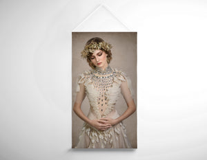 Salon Banner -  Woman in Bridal Dress and Floral Headdress